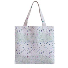 Spot Polka Dots Blue Pink Sexy Zipper Grocery Tote Bag