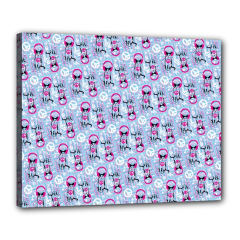 Pattern Kitty Headphones  Canvas 20  X 16