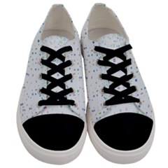 Spot Polka Dots Blue Pink Sexy Men s Low Top Canvas Sneakers