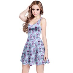 Pattern Kitty Headphones  Reversible Sleeveless Dress