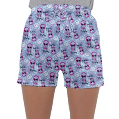 Pattern Kitty Headphones  Sleepwear Shorts