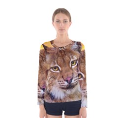 Tiger Beetle Lion Tiger Animals Women s Long Sleeve Tee