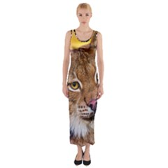 Tiger Beetle Lion Tiger Animals Fitted Maxi Dress