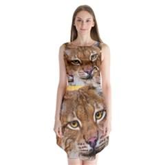 Tiger Beetle Lion Tiger Animals Sleeveless Chiffon Dress