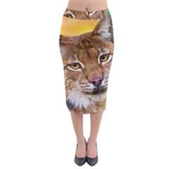 Tiger Beetle Lion Tiger Animals Midi Pencil Skirt
