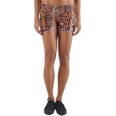 Tiger Beetle Lion Tiger Animals Leopard Yoga Shorts