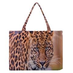 Tiger Beetle Lion Tiger Animals Leopard Zipper Medium Tote Bag