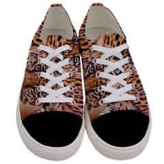 Tiger Beetle Lion Tiger Animals Leopard Women s Low Top Canvas Sneakers