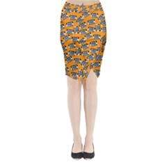 Pattern Halloween Wearing Costume Icreate Midi Wrap Pencil Skirt