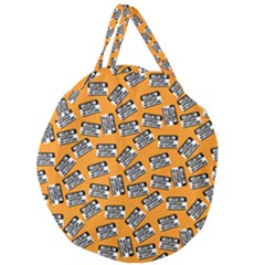 Pattern Halloween Wearing Costume Icreate Giant Round Zipper Tote
