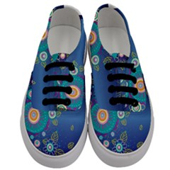 Flower Blue Floral Sunflower Star Polka Dots Sexy Men s Classic Low Top Sneakers
