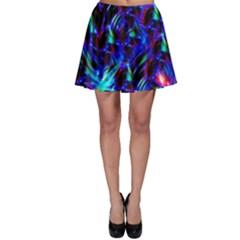 Dark Neon Stuff Blue Red Black Rainbow Light Skater Skirt