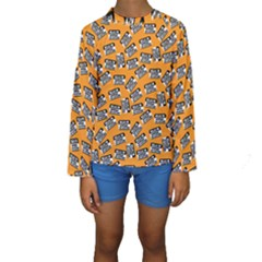 Pattern Halloween  Kids  Long Sleeve Swimwear