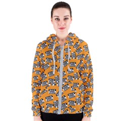 Pattern Halloween  Women s Zipper Hoodie