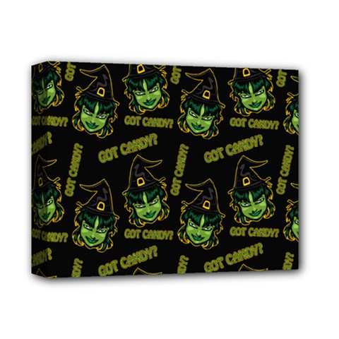 Pattern Halloween Witch Got Candy? Icreate Deluxe Canvas 14  X 11