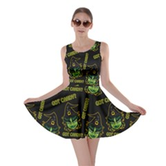 Pattern Halloween Witch Got Candy? Icreate Skater Dress