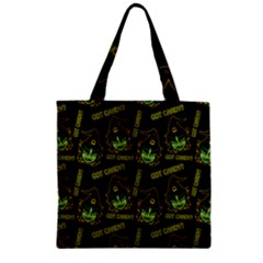 Pattern Halloween Witch Got Candy? Icreate Zipper Grocery Tote Bag