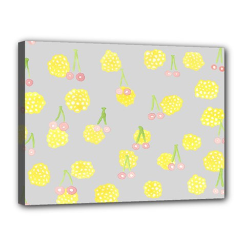 Cute Fruit Cerry Yellow Green Pink Canvas 16  X 12