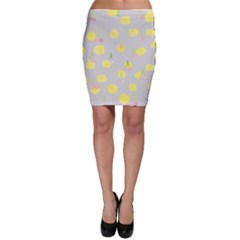 Cute Fruit Cerry Yellow Green Pink Bodycon Skirt