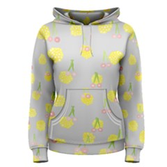 Cute Fruit Cerry Yellow Green Pink Women s Pullover Hoodie