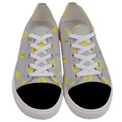 Cute Fruit Cerry Yellow Green Pink Women s Low Top Canvas Sneakers