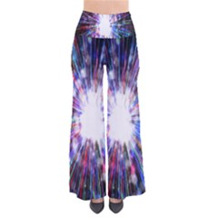 Seamless Animation Of Abstract Colorful Laser Light And Fireworks Rainbow Pants
