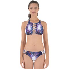 Seamless Animation Of Abstract Colorful Laser Light And Fireworks Rainbow Perfectly Cut Out Bikini Set