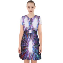 Seamless Animation Of Abstract Colorful Laser Light And Fireworks Rainbow Adorable In Chiffon Dress