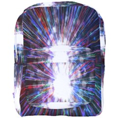 Seamless Animation Of Abstract Colorful Laser Light And Fireworks Rainbow Full Print Backpack