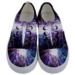 Seamless Animation Of Abstract Colorful Laser Light And Fireworks Rainbow Kids  Classic Low Top Sneakers
