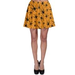 Pattern Halloween Black Spider Icreate Skater Skirt