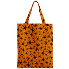 Pattern Halloween Black Spider Icreate Zipper Classic Tote Bag