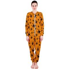 Pattern Halloween Black Spider Icreate Onepiece Jumpsuit (ladies)