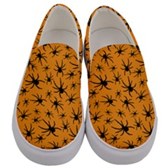 Pattern Halloween Black Spider Icreate Men s Canvas Slip Ons