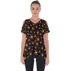 Halloween Spiders Cut Out Side Drop Tee