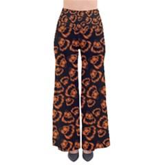 Pattern Halloween Jackolantern Pants