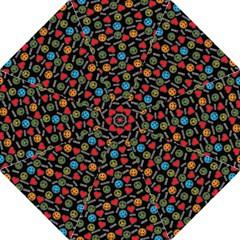 Pattern Halloween Peacelovevampires  Icreate Hook Handle Umbrellas (large)