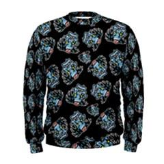 Pattern Halloween Zombies Brains Men s Sweatshirt