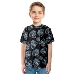 Pattern Halloween Zombies Brains Kids  Sport Mesh Tee