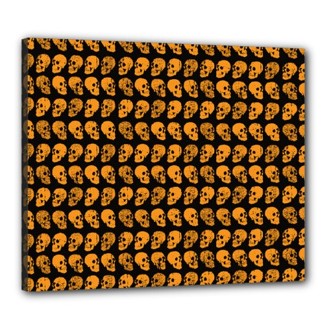 Halloween Color Skull Heads Canvas 24  X 20