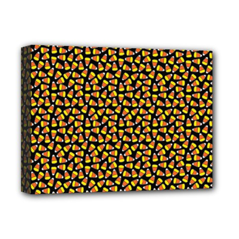 Pattern Halloween Candy Corn   Deluxe Canvas 16  X 12