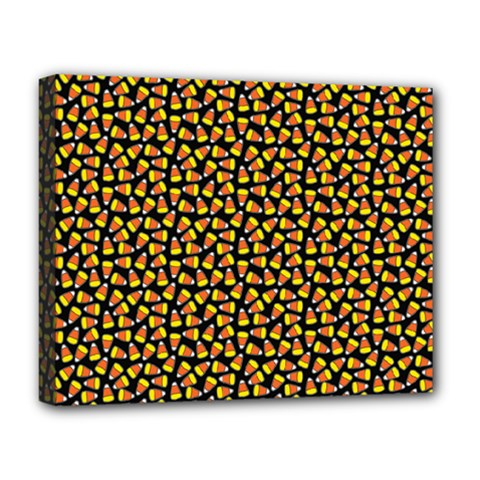 Pattern Halloween Candy Corn   Deluxe Canvas 20  X 16