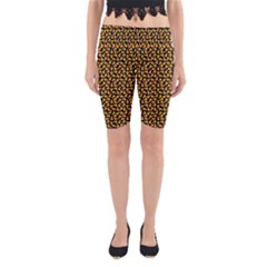 Pattern Halloween Candy Corn   Yoga Cropped Leggings