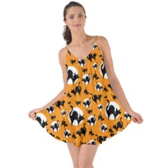 Pattern Halloween Black Cat Hissing Love The Sun Cover Up