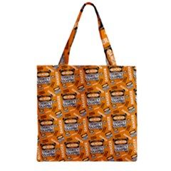 Halloween Thirsty Vampire Signs Zipper Grocery Tote Bag