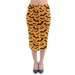 Pattern Halloween Bats  Icreate Midi Pencil Skirt