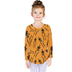 Halloween Skeletons  Kids  Long Sleeve Tee