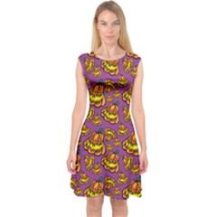 1pattern Halloween Colorfuljack Icreate Capsleeve Midi Dress