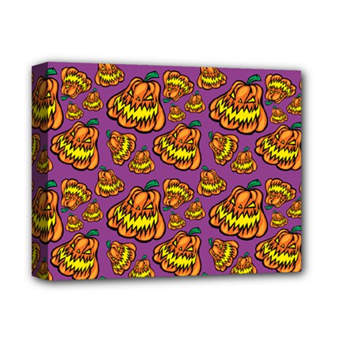 Halloween Colorful Jackolanterns  Deluxe Canvas 14  X 11