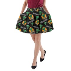 Halloween Ghoul Zone Icreate A Line Pocket Skirt